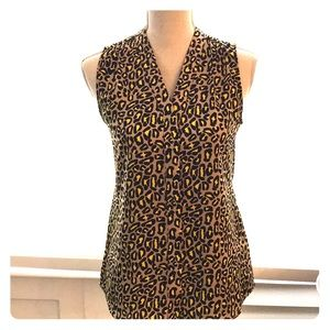 Banana Republic animal print blouse